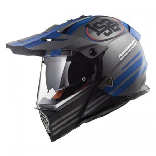 Шлем LS2 MX436 Pioneer Quarterback Blue