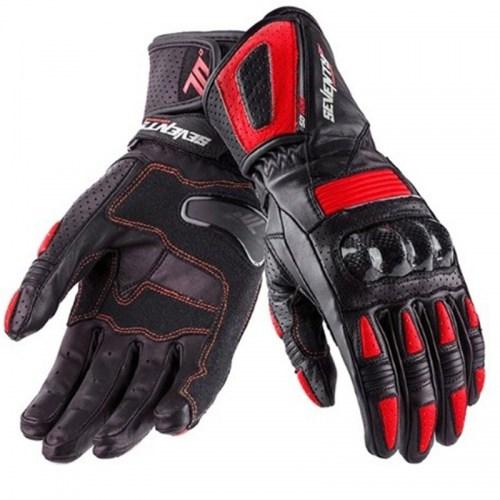 Мотоперчатки Seventy SD-R20 Summer Racing Woman Black-Red