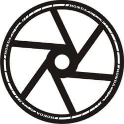 Наклейки на колесо Motorace Honda CBR