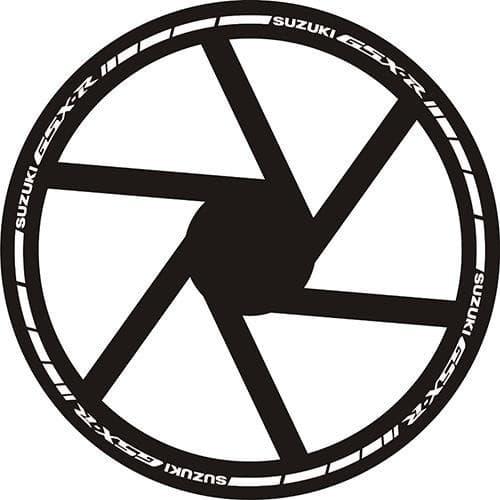 Наклейки на обод Suzuki GSX-R