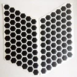 Наклейки-соты карбон