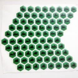 Наклейки мото камасутра зелёные