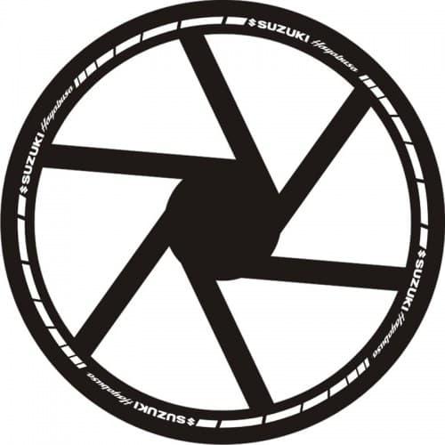 Наклейки на обод колеса Suzuki Hayabusa