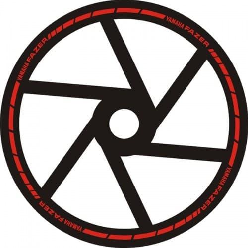 Наклейки на обод колеса Yamaha Fazer