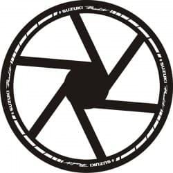 Наклейки на обод колеса Suzuki Bandit