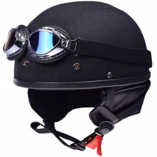 Мотокаска Awina AIX-018 Black Mat