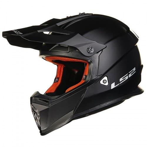 Мотошлем LS2 MX437 Fast Solid Black Mat