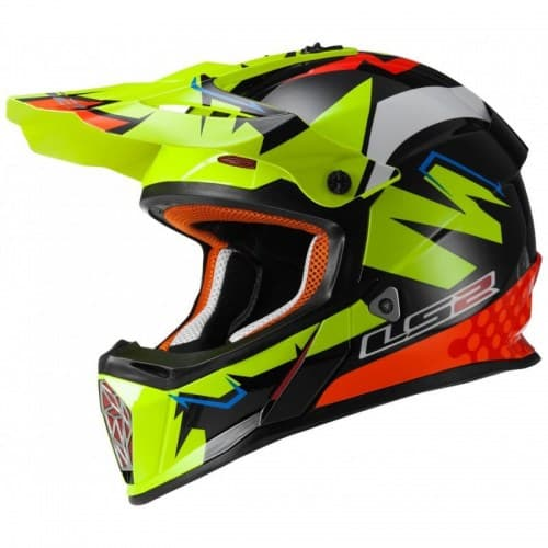 Мотошлем LS2 MX437 Fast Isaac Vinales Green/Black