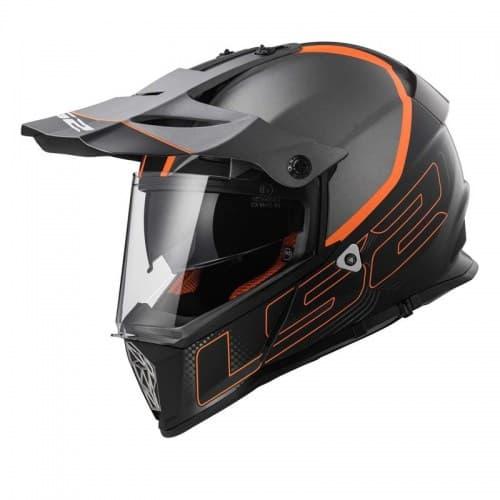 Мотошлем LS2 MX436 Pioneer Element Titanic/Black/Orange