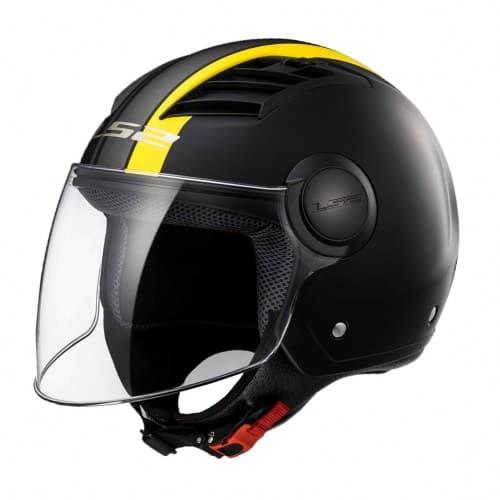 Мотошлем LS2 OF562 Airflow L Metropolis Black/Yellow