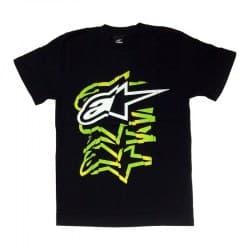 Футболка Alpinestars LA-08 Black/Green/White