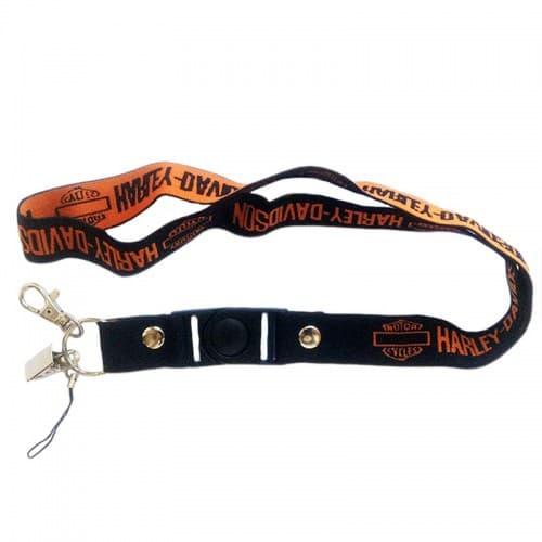 Шнурок для ключей Harley Davidson Orange/Black