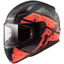 Мотошлем LS2 FF353 Rapid Deadbolt Black/Orange