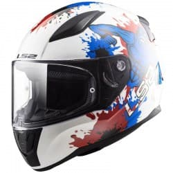 Мотошлем LS2 FF353J Rapid Monster Junior White/Blue