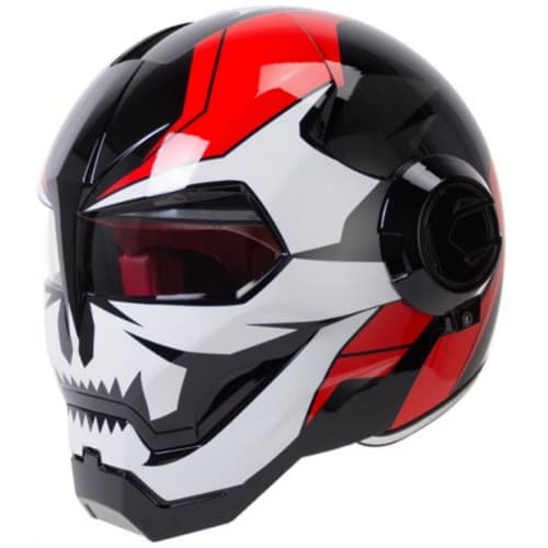 Мотошлем Herobiker Iron Men Vertebrae