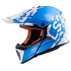 Мотошлем LS2 MX437 Fast Spot White/Blue