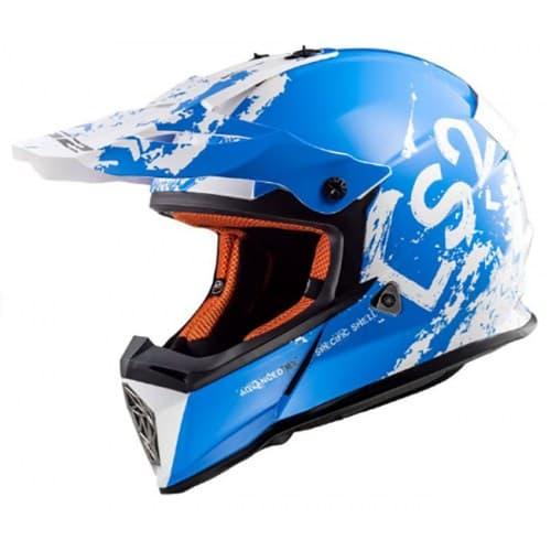 Мотошлем LS2 MX437 Fast Spot White/Blue