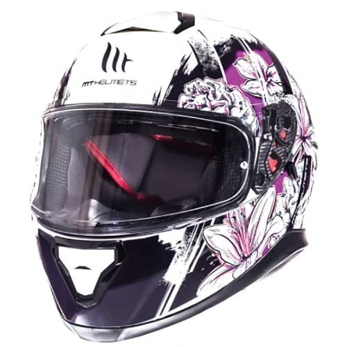 Шлем MT Thunder 3 SV Wild Garden White/Purple