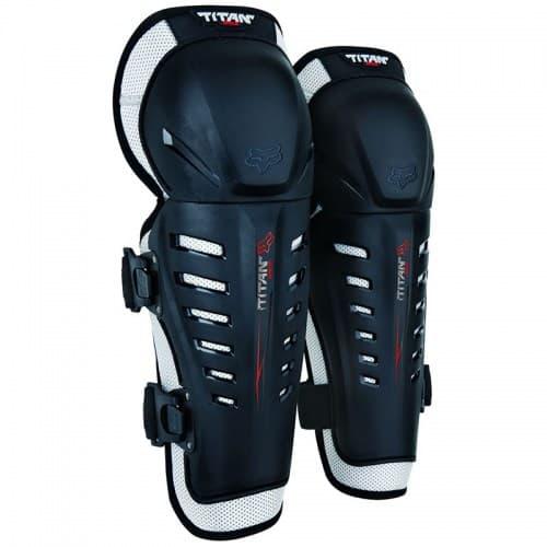 Мотонаколенники FOX Titan Race Knee Guard CE Black/Grey