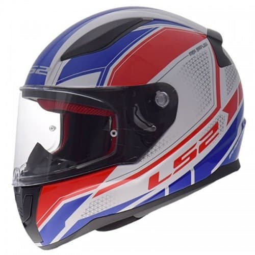 Мотошлем LS2 FF353 Rapid Infinity White/Red/Blue
