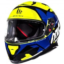 Шлем MT Thunder 3 SV Torn Yellow/Blue Gloss