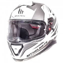 Мотошлем MT Thunder 3 Effect White/Silver/Grey