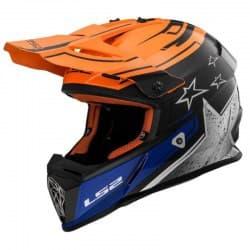 Мотошлем LS2 MX437 Fast Core Black/Orange/White
