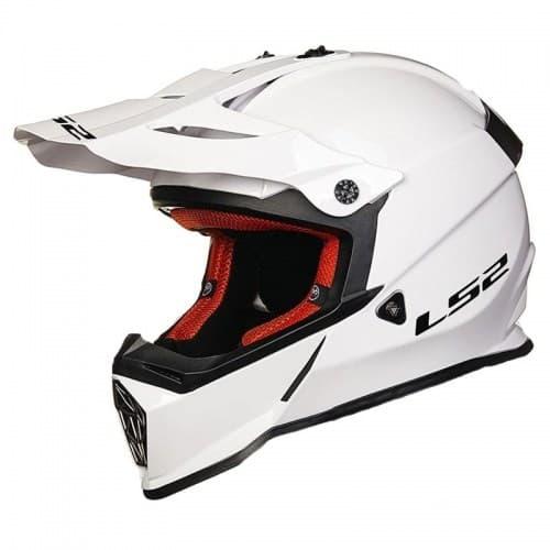 Мотошлем LS2 MX437J Solid Junior White