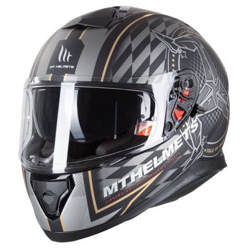 Мотошлем MT Thunder 3 SV Isle of man Black-Gold