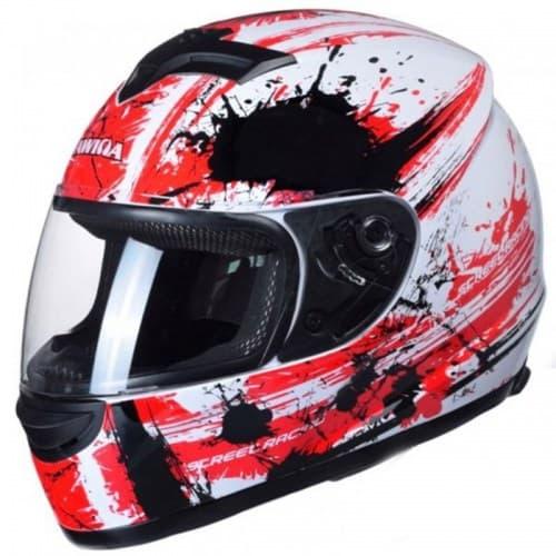 Мотошлем Awina Motoline B2 White/Red/Black