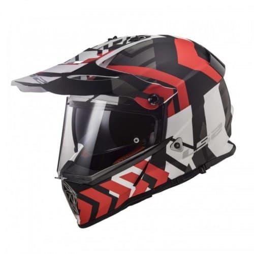 Мотошлем LS2 MX436 Pioneer Xtreme Black-Red