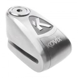 Мотозамок блокировки тормозного диска с сигнализацией Kovix KAL6 Silver