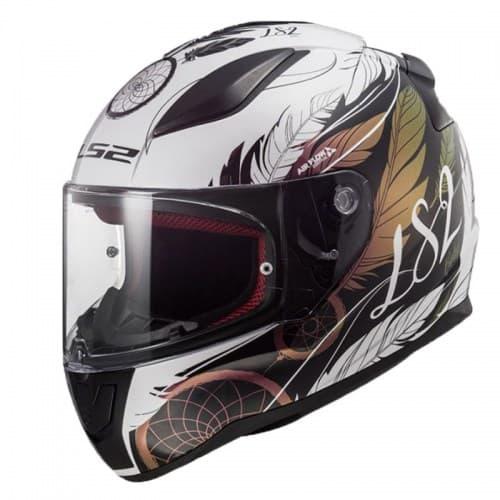 Мотошлем LS2 FF353 Rapid Boho White/Black/Pink