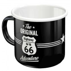Кружка Highway 66 Adventure Black/White