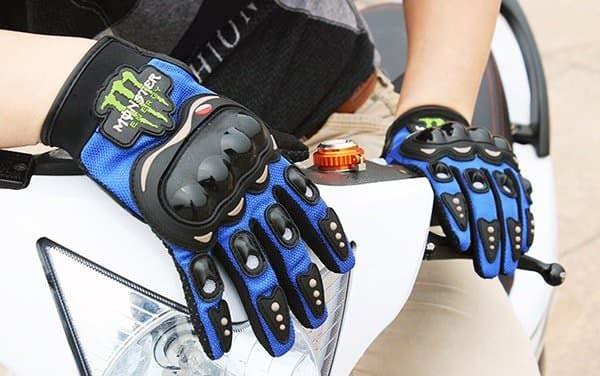 Текстильные мотоперчатки с защитой