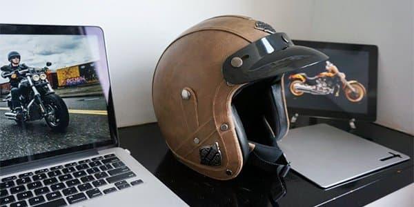 Мотошлем для скутера в стиле ретро