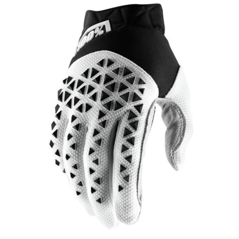 Мотоперчатки 100% Ride Airmatic Black/White/Silver