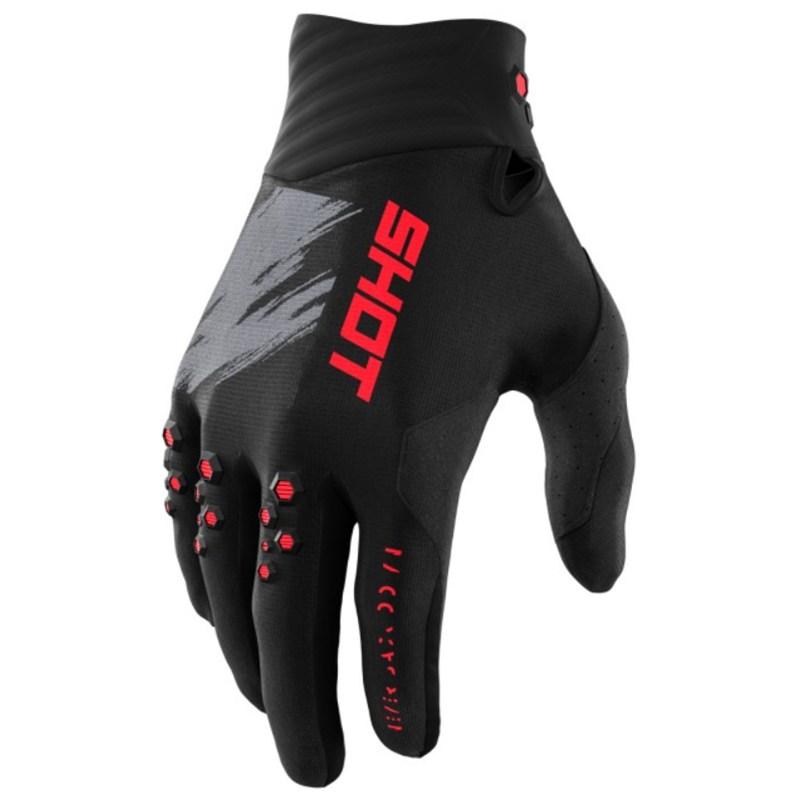 Мотоперчатки Shot Racing Contact Draw Red
