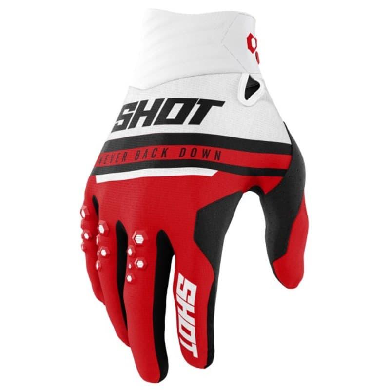 Мотоперчатки Shot Racing Contact Shining Red