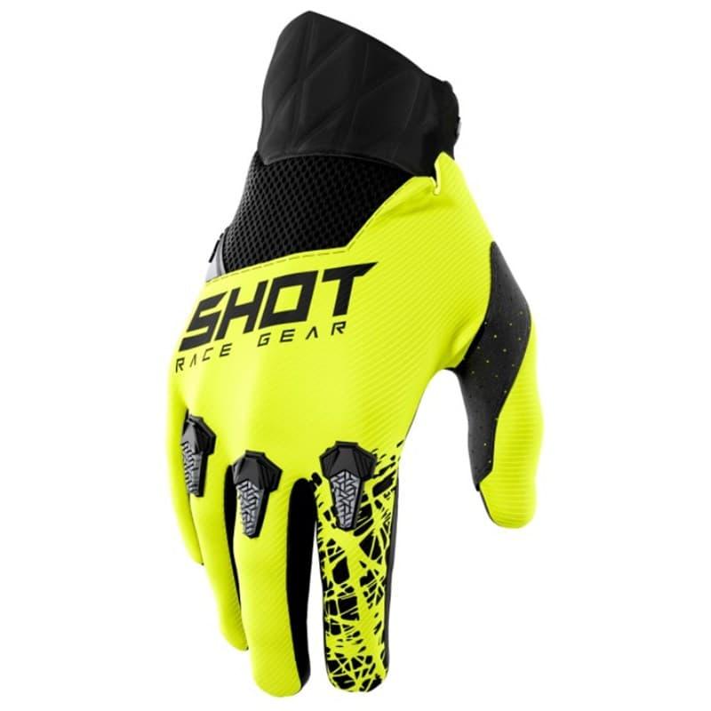 Мотоперчатки Shot Racing Devo Storm Yellow