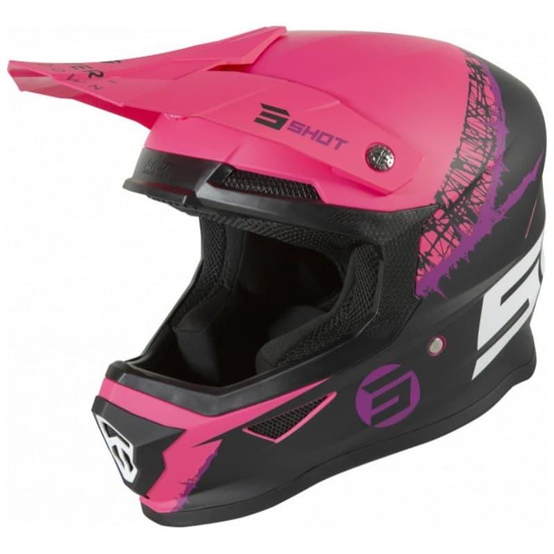 Шлем Shot Racing Furious Storm Black/Purple