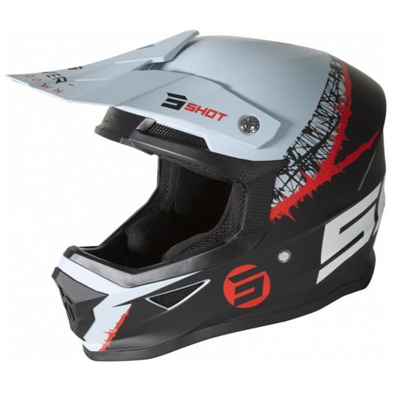Шлем Shot Racing Furious Storm Black/Grey/Red