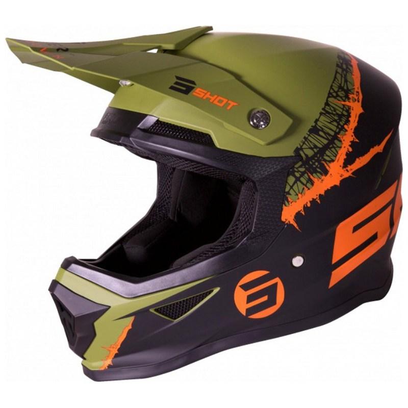 Шлем Shot Racing Furious Storm Black/Khaki/Orange