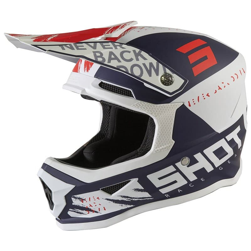 Шлем Shot Racing Furious Draw Kid Blue/Red
