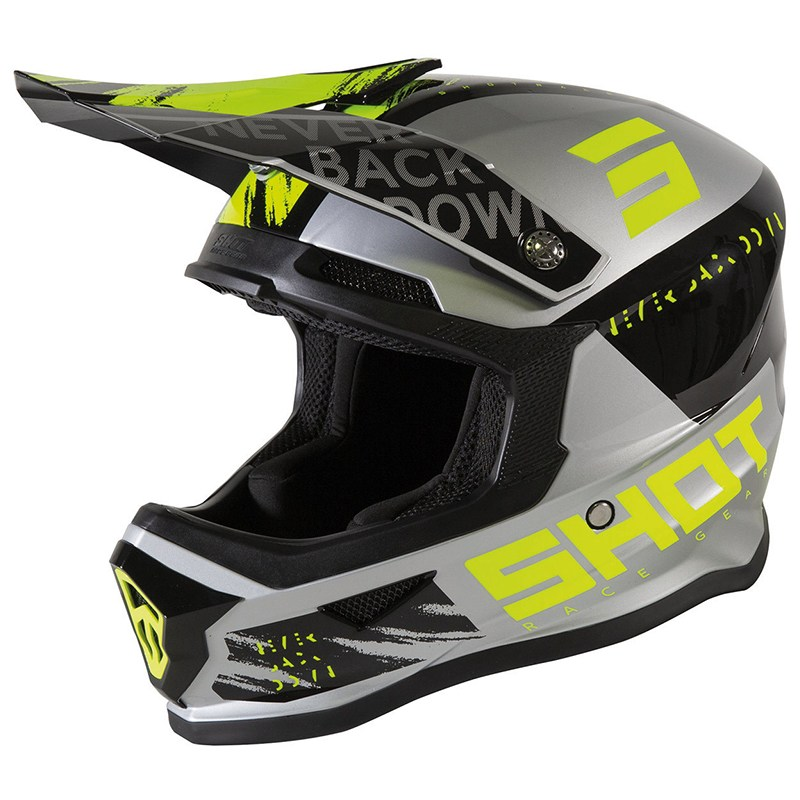Шлем Shot Racing Furious Draw Kid Grey/Yellow