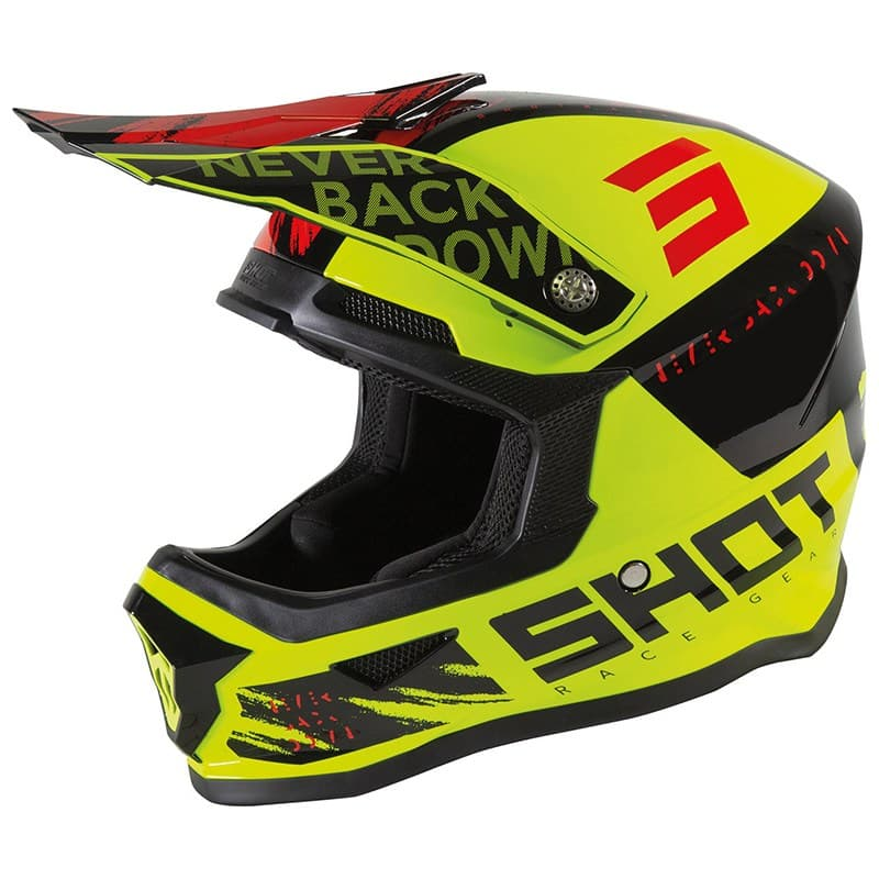 Шлем Shot Racing Furious Draw Kid Yellow/Black/Red