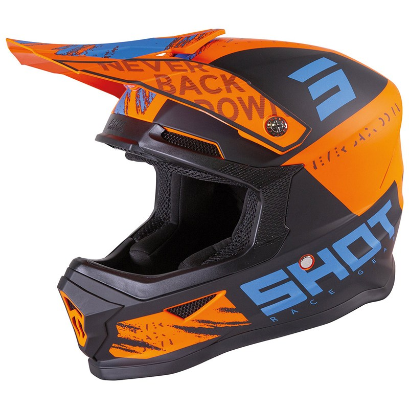 Шлем Shot Racing Furious Draw Kid Orange/Blue