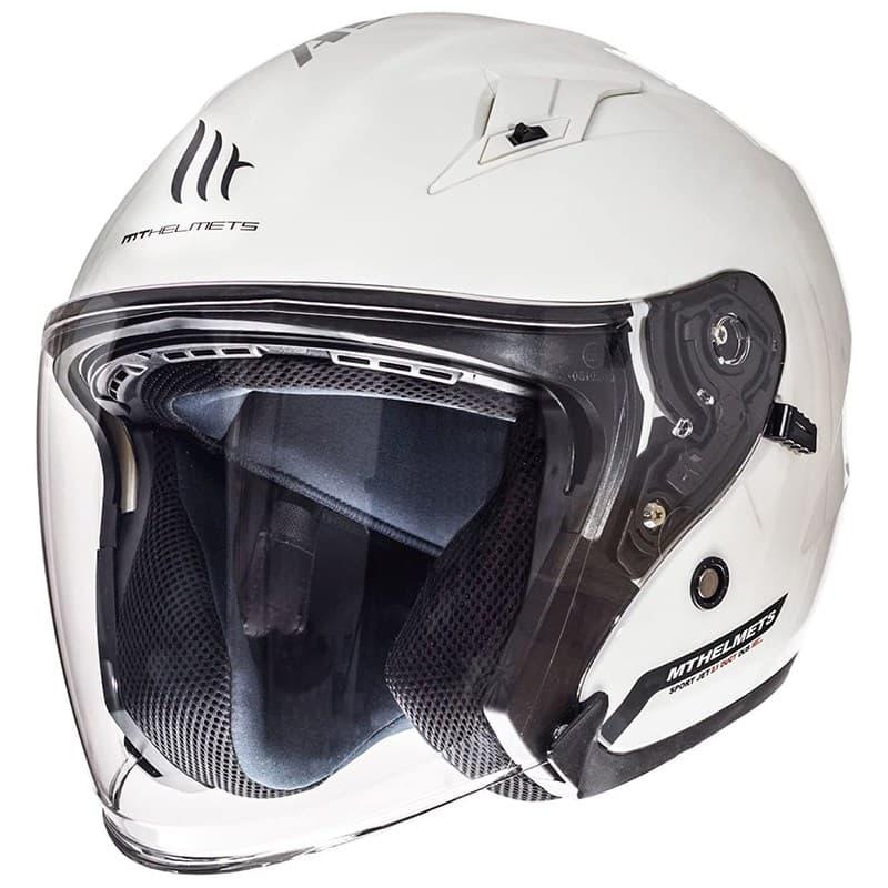 Шлем MT Jet Avenue SV Solid White Gloss