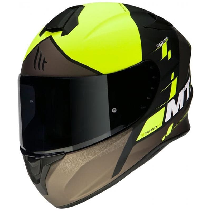 Шлем MT Targo Rigel Yellow-Black-Brown