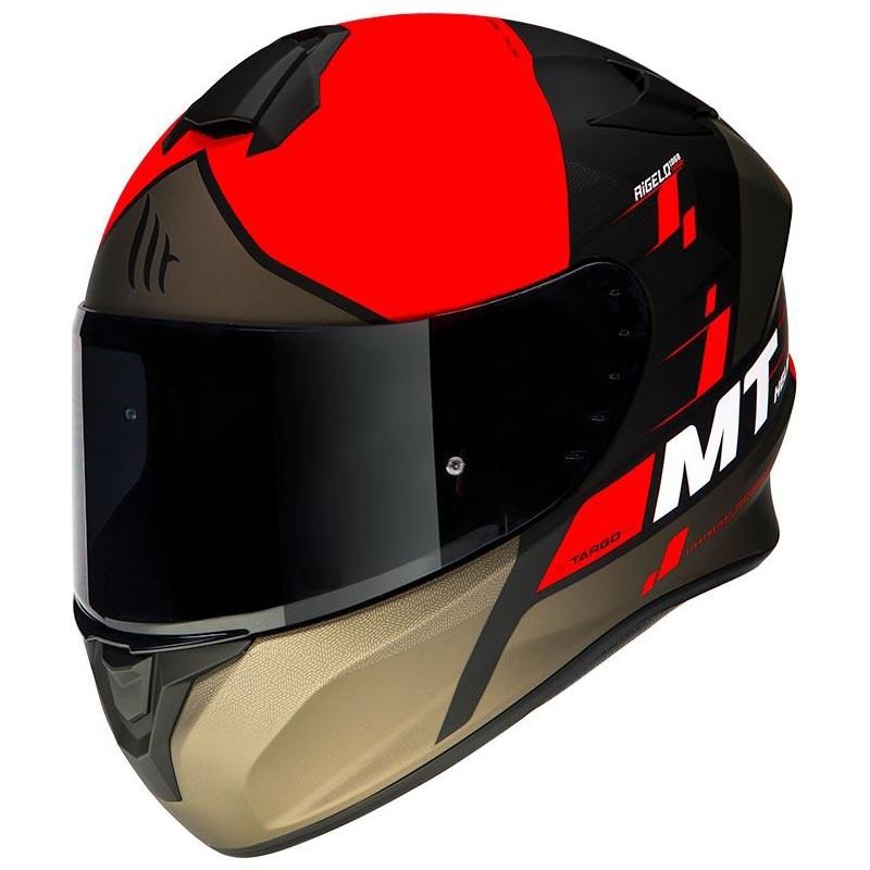 Шлем MT Targo Rigel Red-Black-Brown